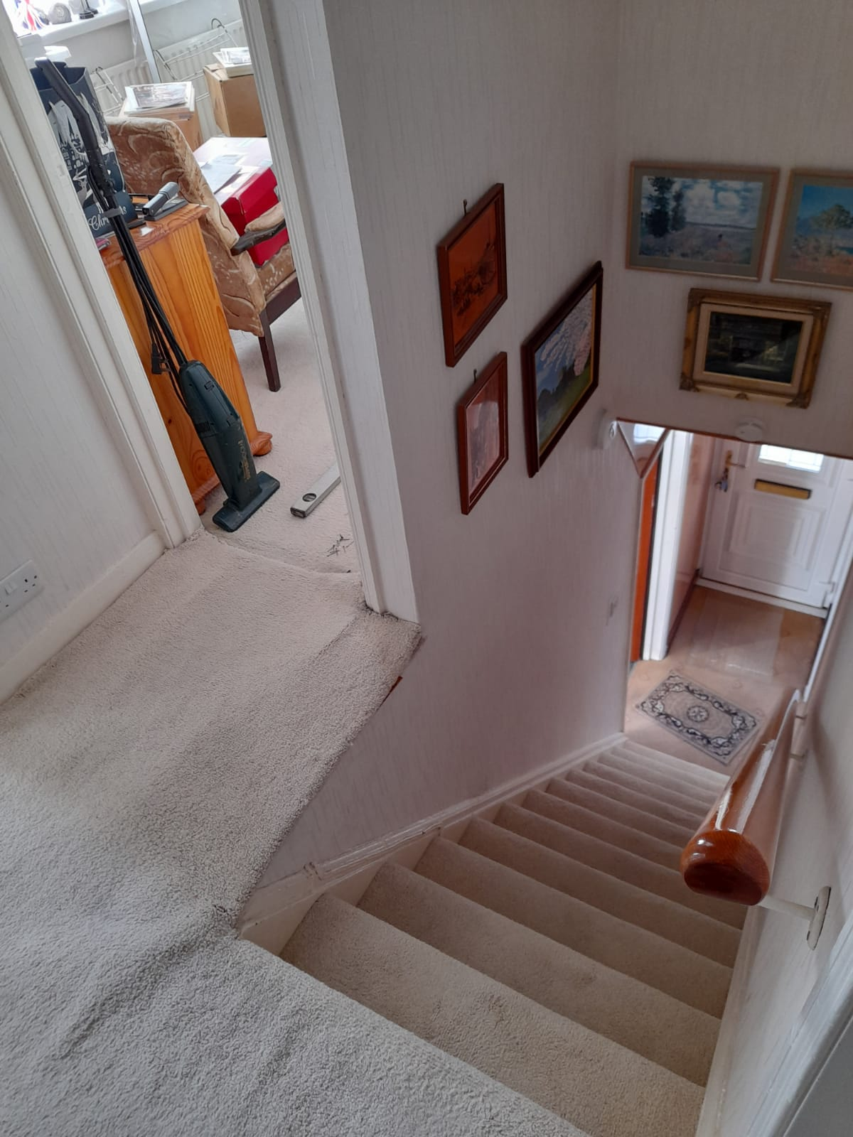 Home with no barrier at side of stairs - fall risk